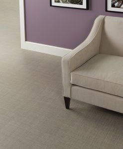 vinylova podlaha lepena Amtico First SF3A3800 Linen Weave v interieru