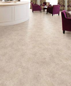 vinylova podlaha lepena Amtico First SF3S1440 Ceramic Pale v interiéru