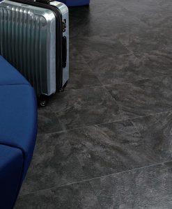 vinylova podlaha lepena Amtico First SF3S2602 Wave Slate Black v interiéru