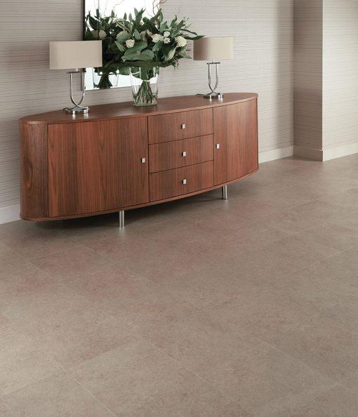 vinylova podlaha lepena Amtico First SF3S4434 Dry Stone Loam v interiéru