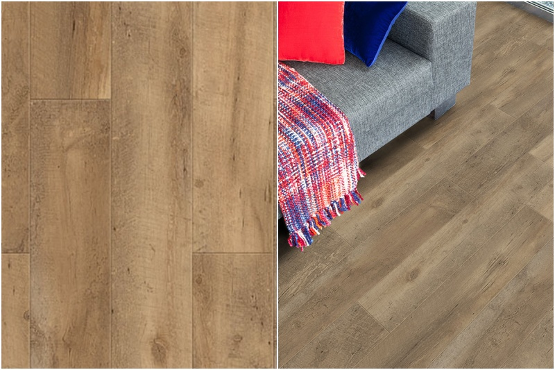 Vinylová podlaha v dekoru dřeva.