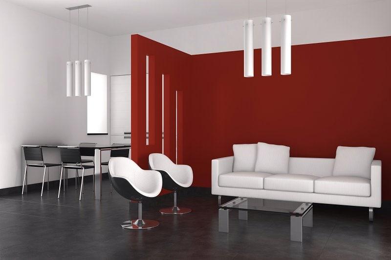 Tmavá podlaha v moderním interiéru.