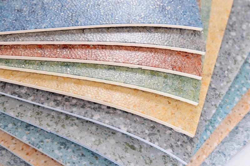 Ukázka pár dekorů PVC podlahy, ale je jich mnohem více.