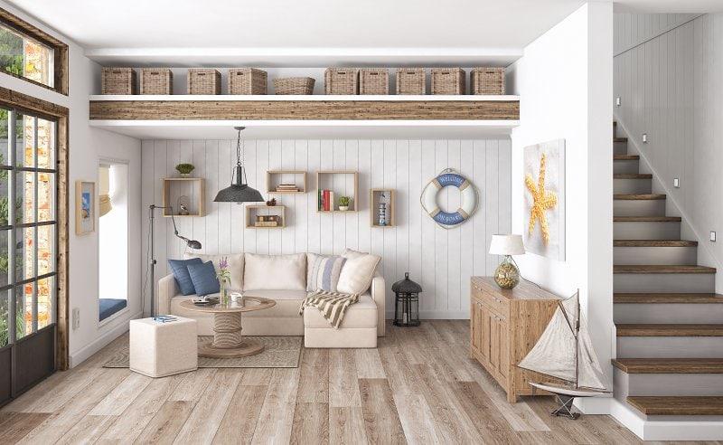 Skandivávský styl bydlení – přírodní materiály, světlé barvy a hodně světla.