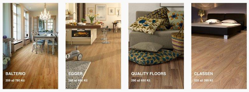 Nabídka laminátové podlahy.