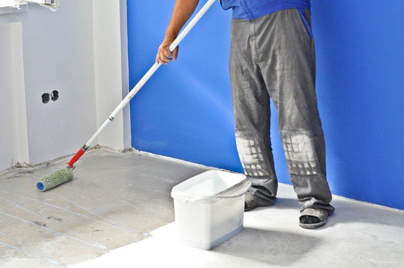 Penetrace podlahy.