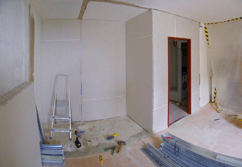 Rekonstrukce bytu v paneláku.