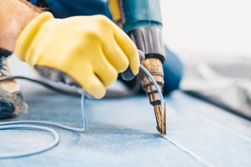 Svařování PVC podlahy zahorka.