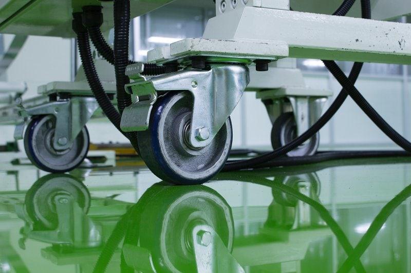 Zelená epoxidová podlaha.