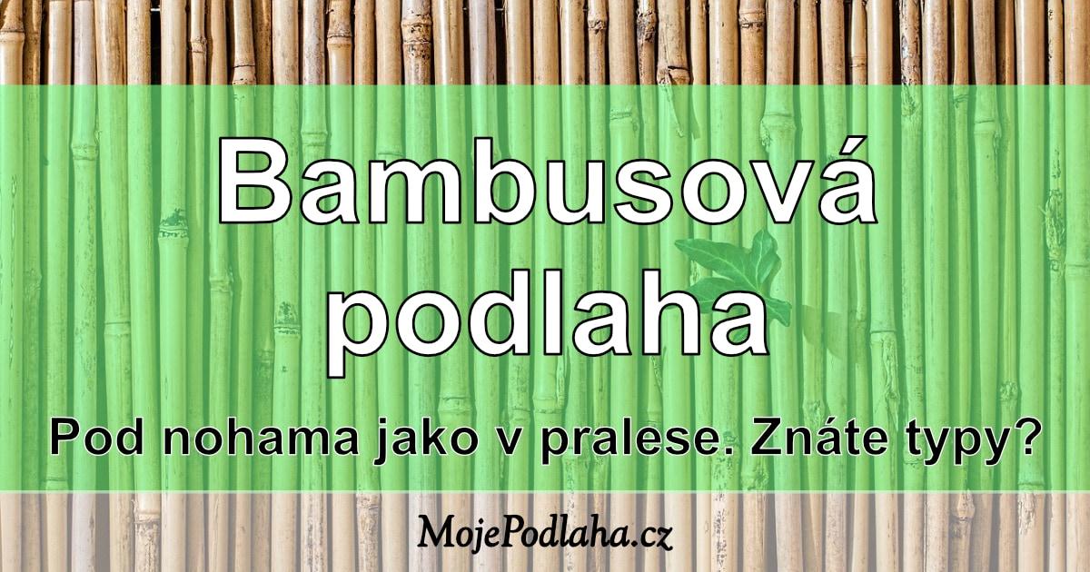 Bambusová podlaha –jaké jsou typy?