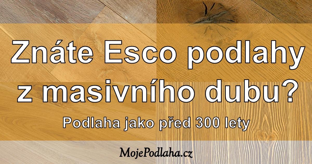 Masivní dřevěné podlahy Esco, jako před 300 lety.