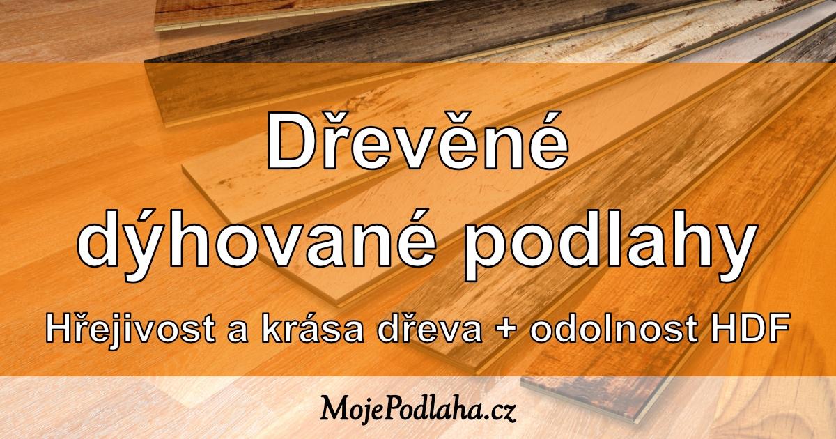 Dřevěné dýhované podlahy.